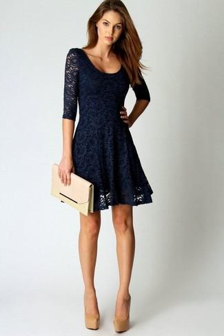 Zapatos para vestido azul marino mujer