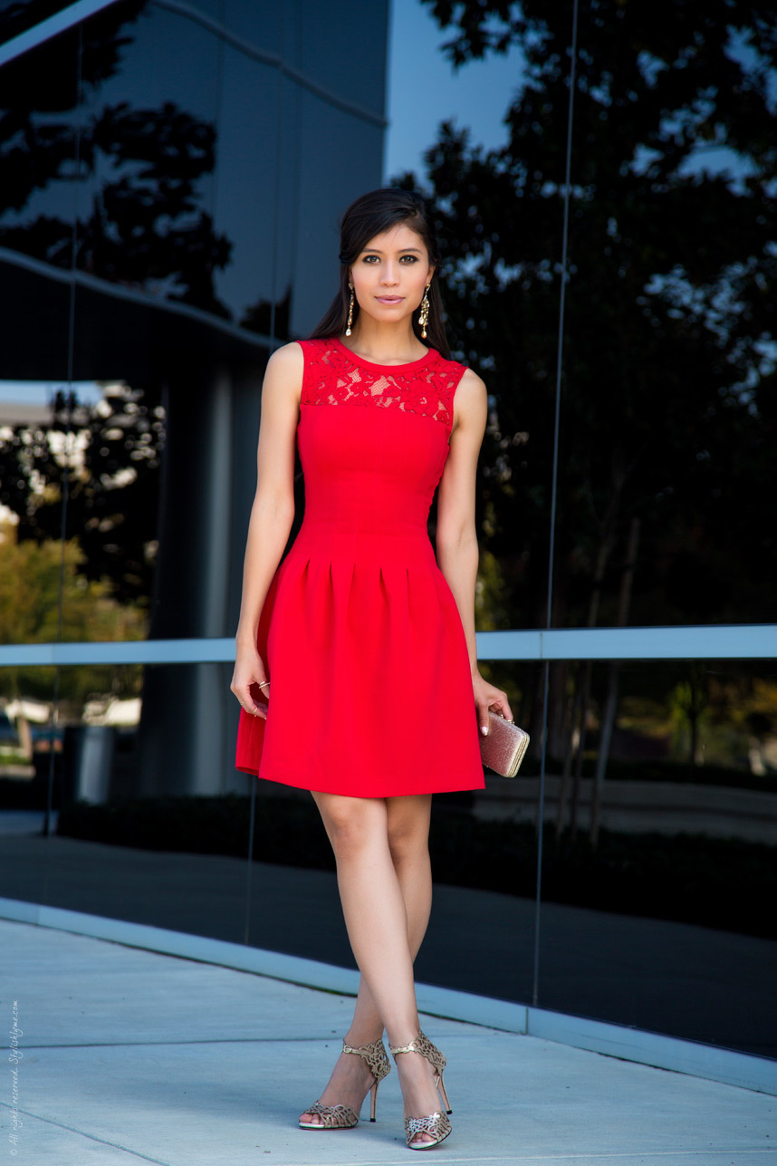 Vestir Con Rojo Zapatos Vestido Unos Clima En Cálido263 De Un nP8k0wO