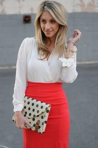 6226bef66 Cómo combinar una falda lápiz roja (53 looks de moda) | Moda para ...