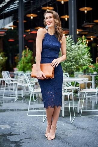 Pendientes para vestido azul marino