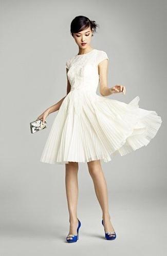 Como combinar un vestido blanco zapatos