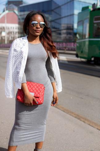 Cómo Combinar Un Vestido Gris 373 Looks De Moda Moda