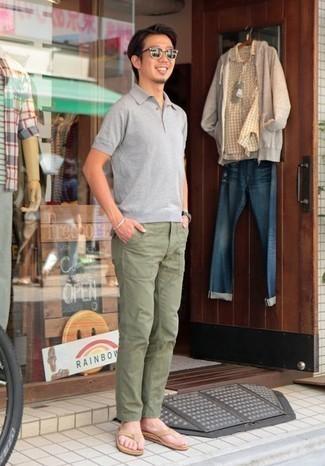 Pantalón chino verde oliva de Closed