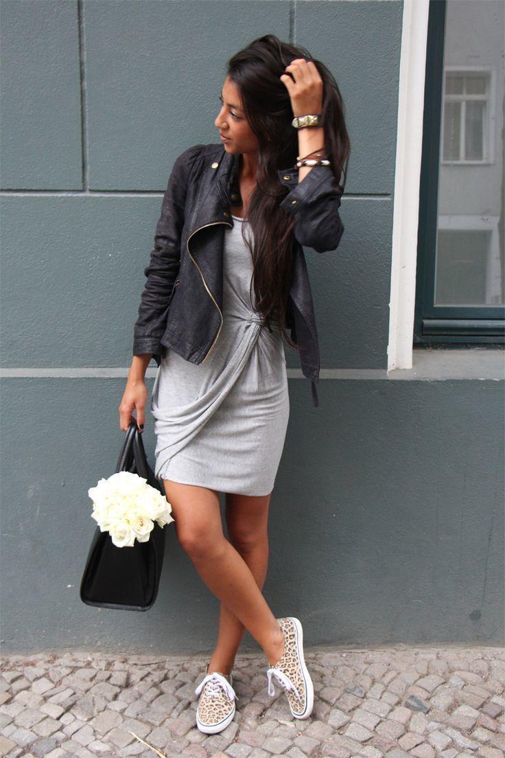 Vestido de punto con zapatillas
