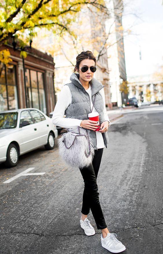 Combinar abrigo pelo gris