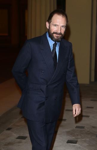 Corbata a lunares negra de Christian Dior