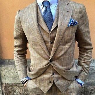 Corbata azul de Calvin Klein