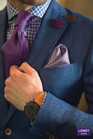 Corbata morado de Kiton