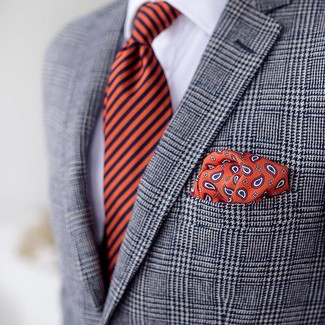 Corbata de rayas verticales naranja de Buffalo