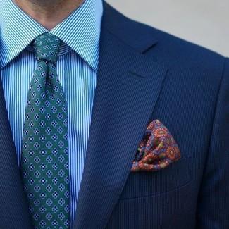 77d8523153 Look de moda  Pañuelo de bolsillo estampado en multicolor