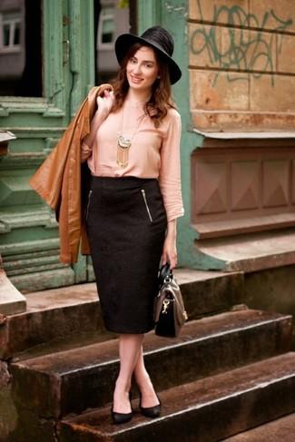 58c82a7c8 Sombrero de lana negro de Borsalino