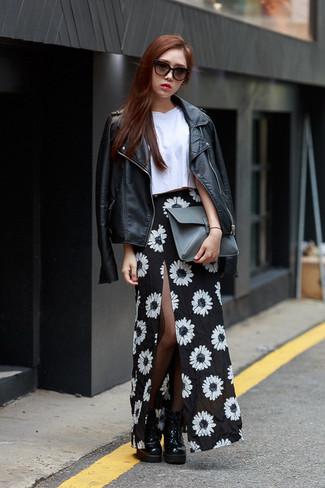 Cómo Falda 81 Blanco Combinar Larga Looks Y Moda Una De Negro En B7rE7w