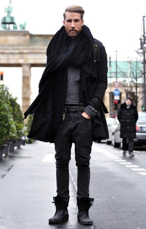 Cómo combinar unas botas negras con unos vaqueros gris oscuro (19 ...