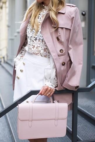 Para Cómo Combinar Gabardina Rosa Looks Una 10 Moda Moda De Mujeres 1zqH1