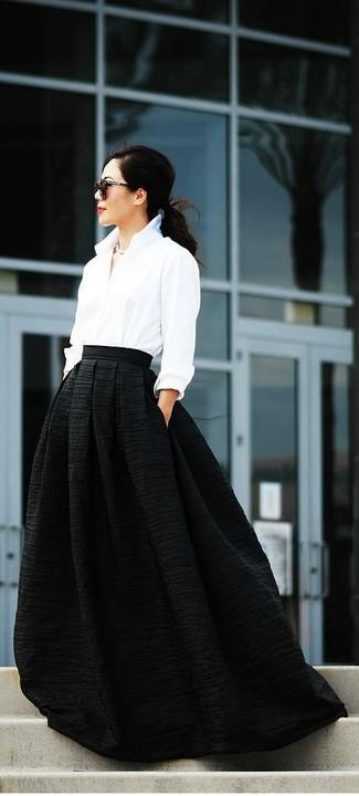 3c618706d Falda larga negra de Jean Louis Scherrer
