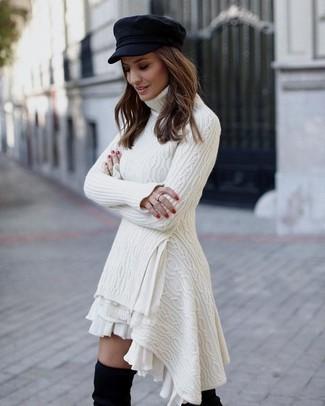 Como combinar vestido blanco de punto