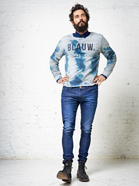 Botas azules hombre combina for Combinar camisa vaquera negra hombre