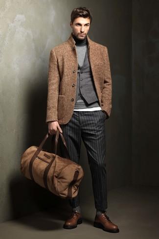 Chaleco de vestir de lana gris de Lardini