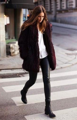 Botines de cuero negros de Saint Laurent