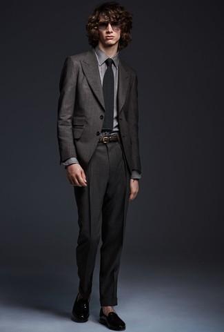 Camisa de vestir gris de Tommy Hilfiger