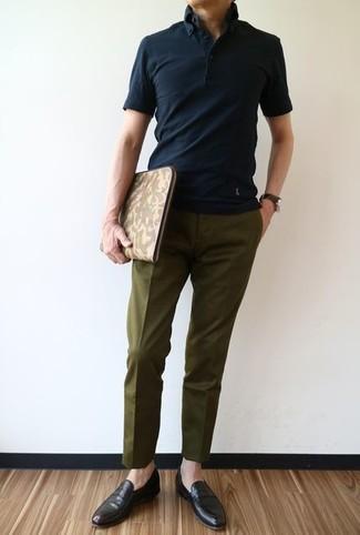 b16b3289b7068 Cómo combinar un pantalón de vestir verde oliva (68 looks de moda ...