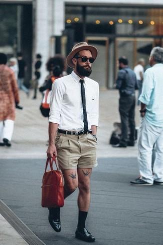 Pantalones cortos marrón claro de Nautica