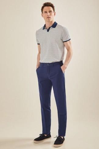 Pantalón de vestir azul marino de Haggar