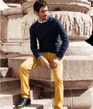 Pantalón chino amarillo de Pt01