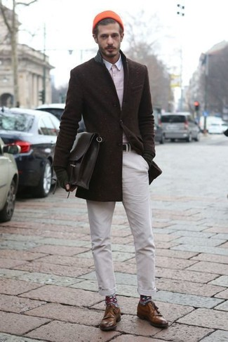 Zapatos derby de cuero marrónes de Florsheim