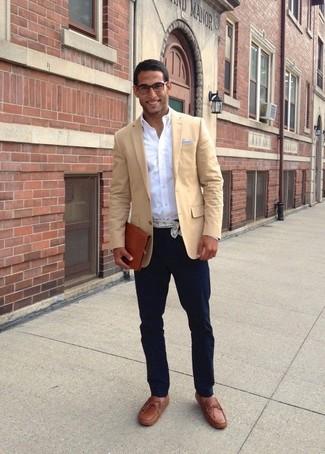 Blazer marrón claro de Jones New York