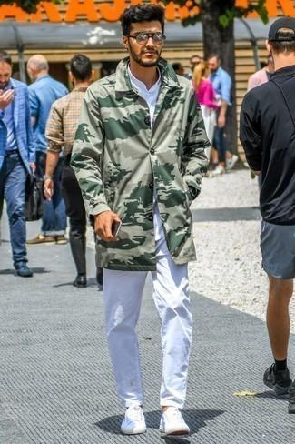 Tenis de lona blancos de Lanvin