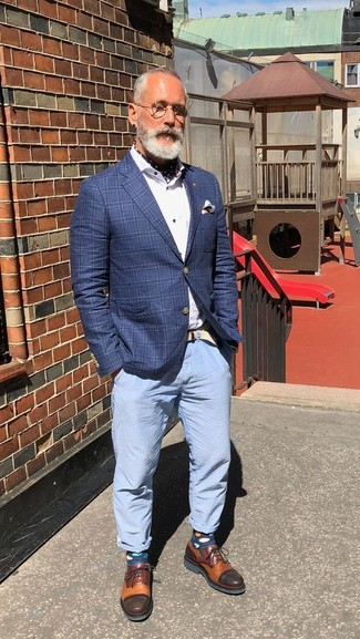 3fe5a198909 Cómo combinar un pantalón chino celeste (44 looks de moda)