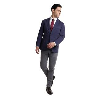 Combinar una corbata a lunares burdeos: Elige un blazer azul marino y una corbata a lunares burdeos para un perfil clásico y refinado. Si no quieres vestir totalmente formal, haz botas safari de cuero negras tu calzado.