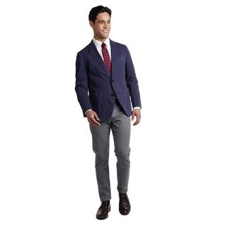 Combinar una corbata a lunares burdeos: Haz de un blazer azul marino y una corbata a lunares burdeos tu atuendo para una apariencia clásica y elegante. Para darle un toque relax a tu outfit utiliza botas safari de cuero negras.
