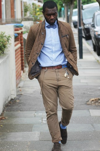 Pantalón chino marrón de Paul & Shark