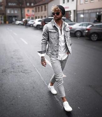Tenis de cuero blancos de Gucci