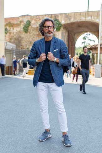 Cómo combinar unos tenis azules (175 looks de moda) | Moda