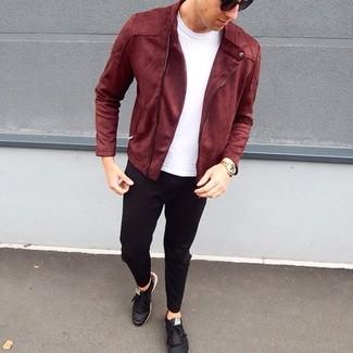 Tenis de cuero negros de Armani Jeans