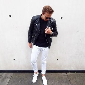 Combinar Un Pantalon Chino Blanco Para Hombres De 20 Anos 73 Looks Outfits Hombre Lookastic Mexico