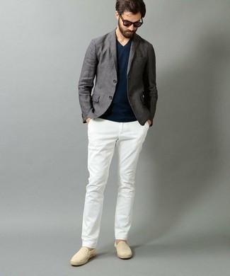 Pantalón chino blanco de Incotex