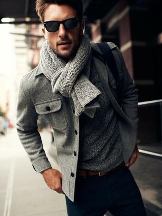 Chaquetón gris de Calvin Klein