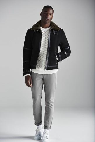 Pantalón chino gris de Haggar