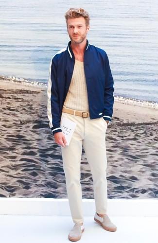 Pantalón chino en beige de Incotex