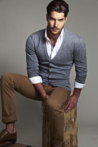 Pantalón chino marrón de Dondup