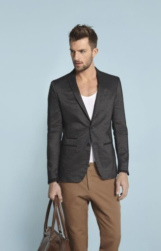 Pantalón chino marrón de Incotex