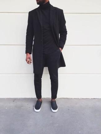 Zapatillas plimsoll de cuero negras de Lanvin
