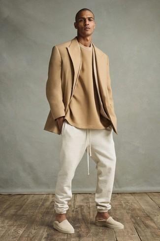 Pantalón de chándal blanco de Russell Athletic
