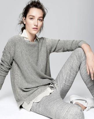Pantalón de chándal gris de Mother