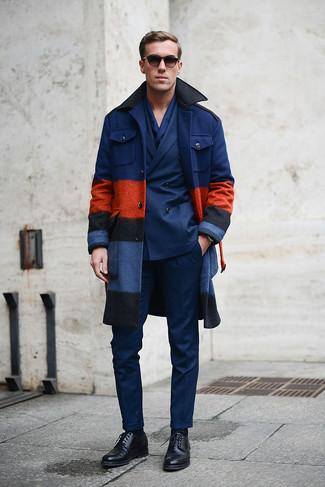 Abrigo largo azul marino de Tommy Hilfiger