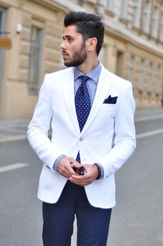 Blazer blanco de Brunello Cucinelli
